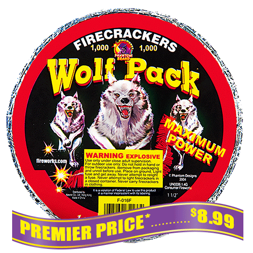 WolfPack Firecrackers - 1,000 Count Strip