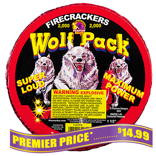 Wolf Pack Firecrackers - 2,000 Count Strip