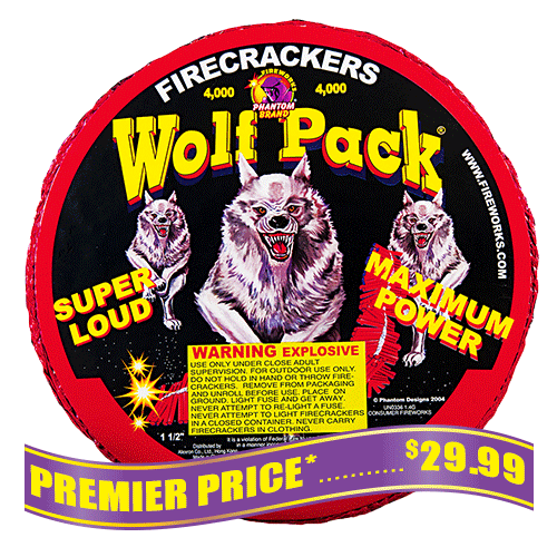 WolfPack Firecrackers - 4,000 Count Strip
