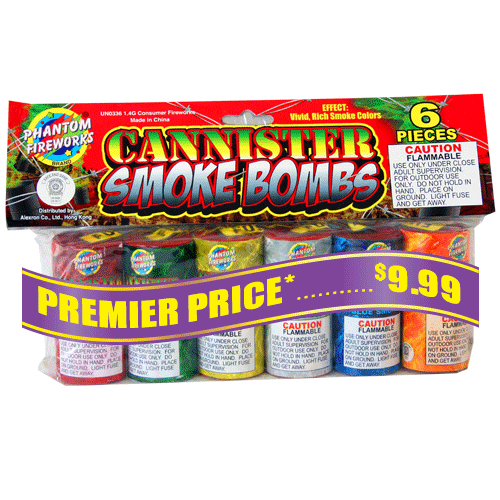 Cannister Smoke Bombs 6PC Bag