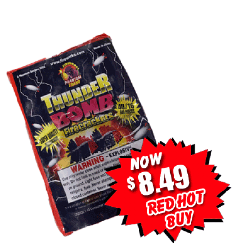 Thunderbomb Firecrackers - 40 packs of 16 crackers