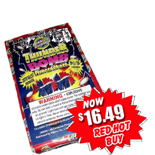 Thunderbomb Firecrackers - 80 packs of 16 crackers