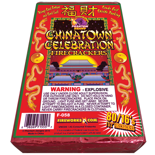 Chinatown Red Crackers - 80 packs of 16 crackers