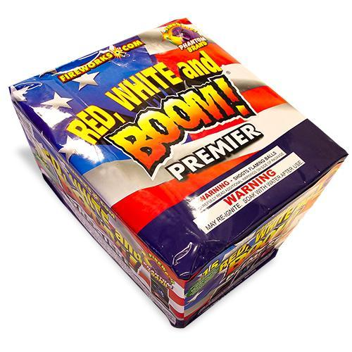 500 Gram Repeater Firework Red White and Boom