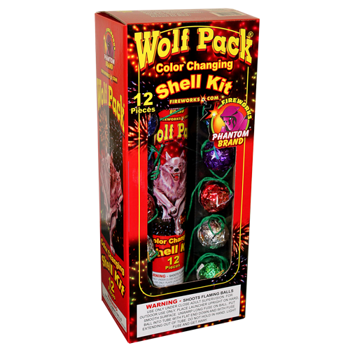 Reloadable Mortars Wolf Pack Color Changing Shell Kit
