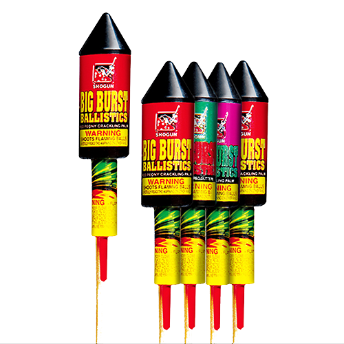 Bottle Rockets Big Burst Ballistic Rockets