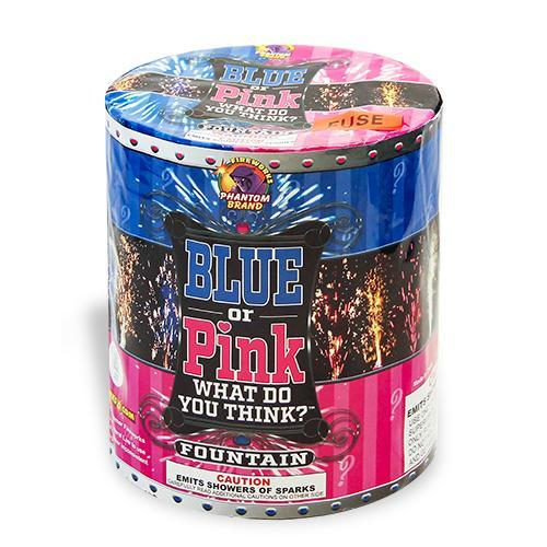 Fireworks Fountains Gender Reveal Blue or Pink