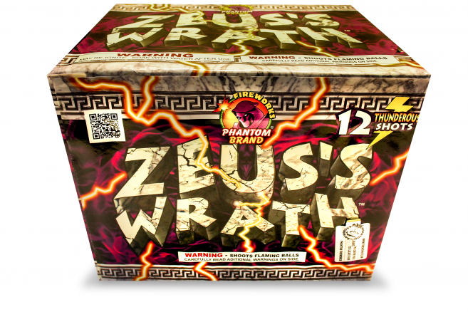 500 Gram Fireworks Repeater Zeus's Wrath