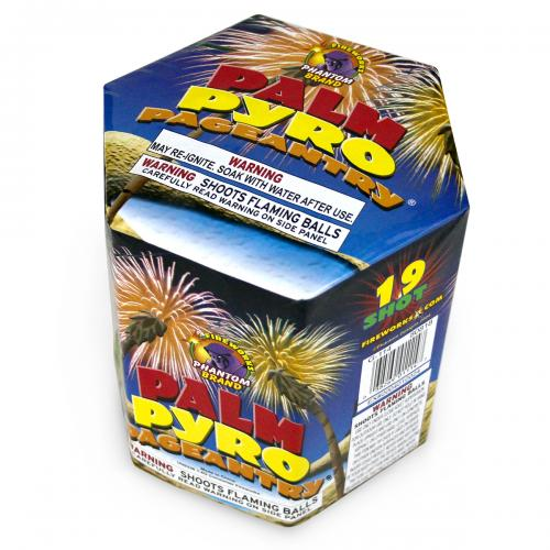 200 Gram Fireworks Repeater Palm Pyro Pageantry