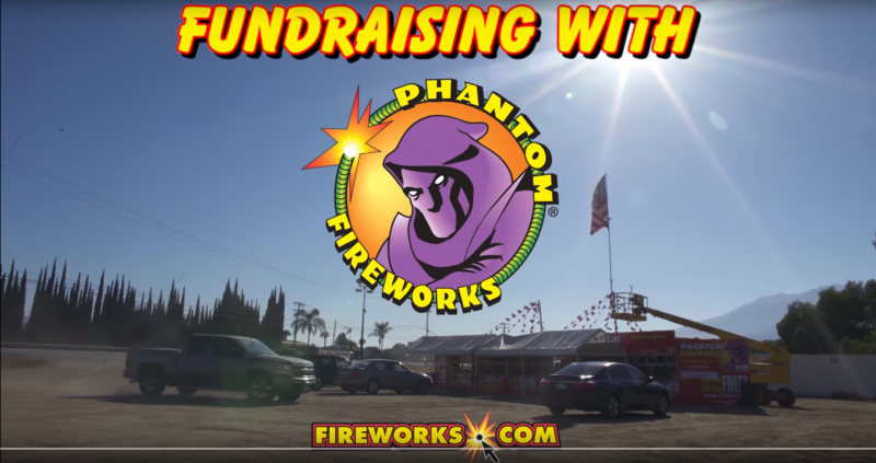 video of phantom fireworks fundraising